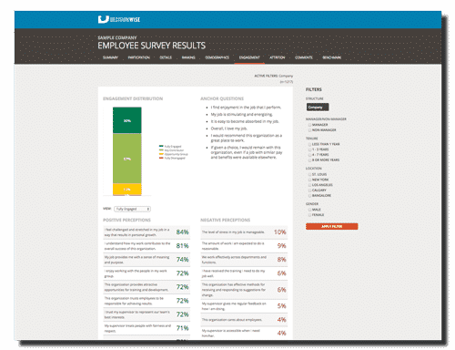 Employee Engagement Survey Online Reporting Tool Software_Engagement Index 1