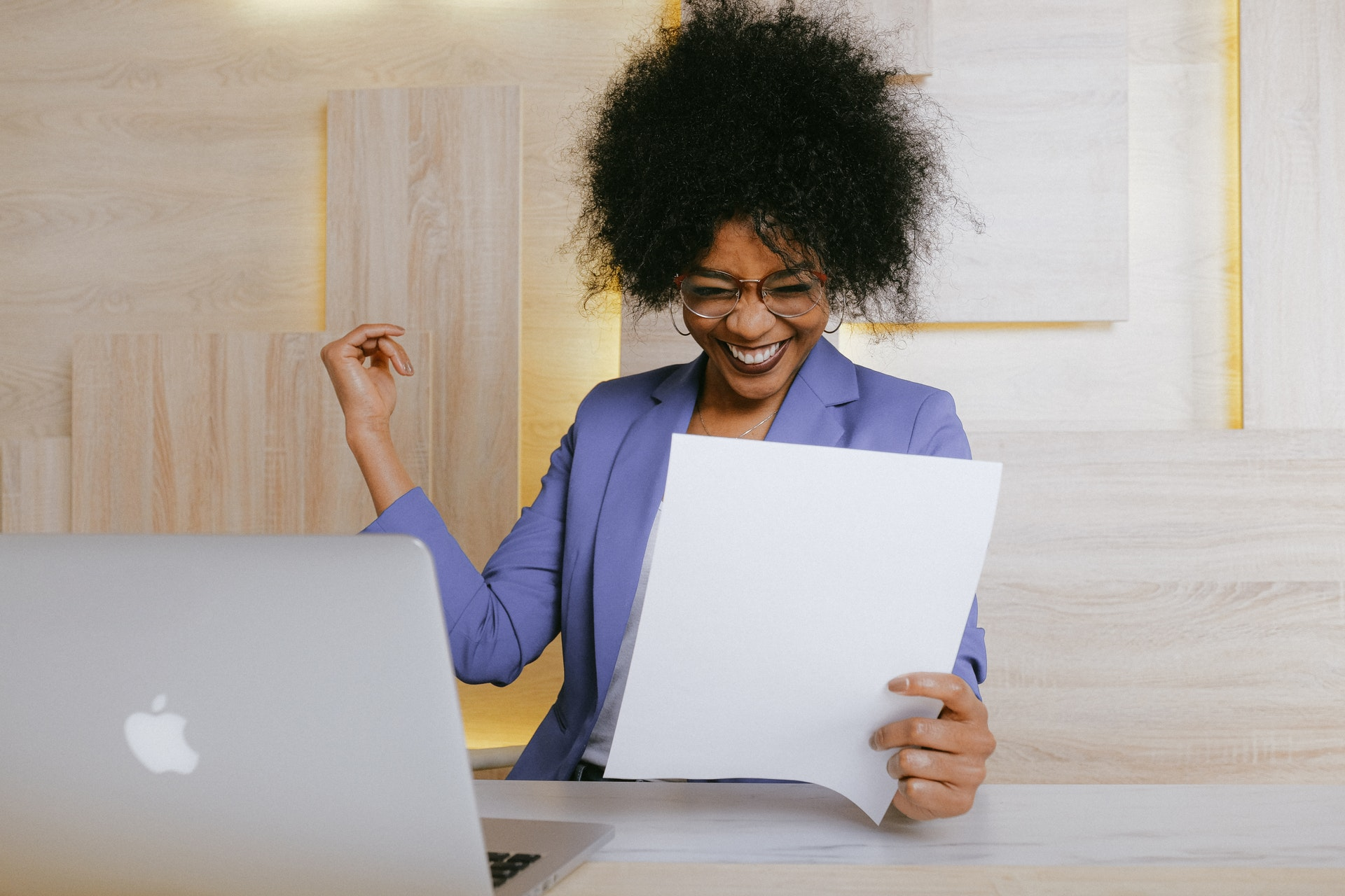 woman seeing her impact at work