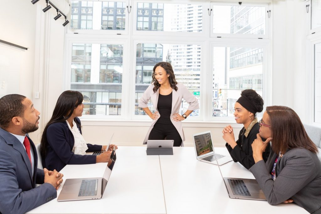 Executives discussing employee voice