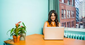 woman feels she has a future with her company